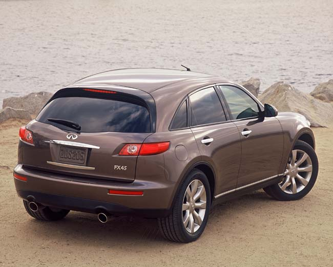 The Fx45 Is Fourth All New Infiniti Introduced In Less Than 12 Months Following Recent Launches Of Award Winning G35 Sport Sedan And